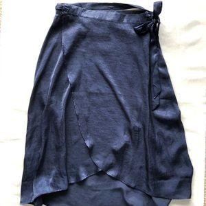 Willow & Clay Navy Wraparound Skirt